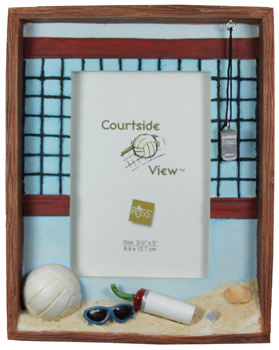 """MB20810 7"""" Hand Painted 3-D Volleyball Shadowbox Picture Frame"""