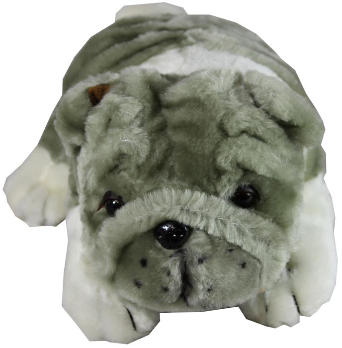 Pl10401 10 Quot Grey Plush Bulldog