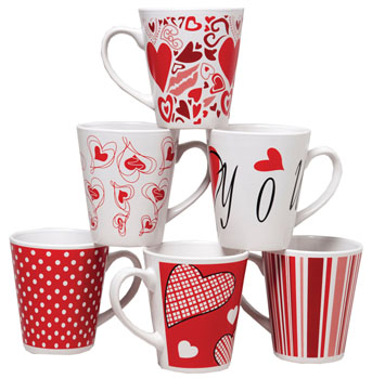 Valentine's Mugs and Glasses